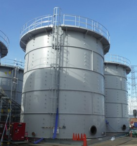 Water storage tanks (Photo by TEPCO)