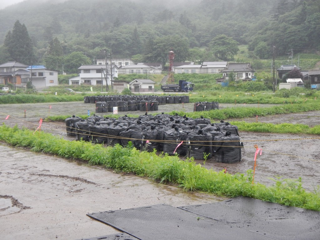 Temporary storage of decontamination waste in Fukushima Prefecture