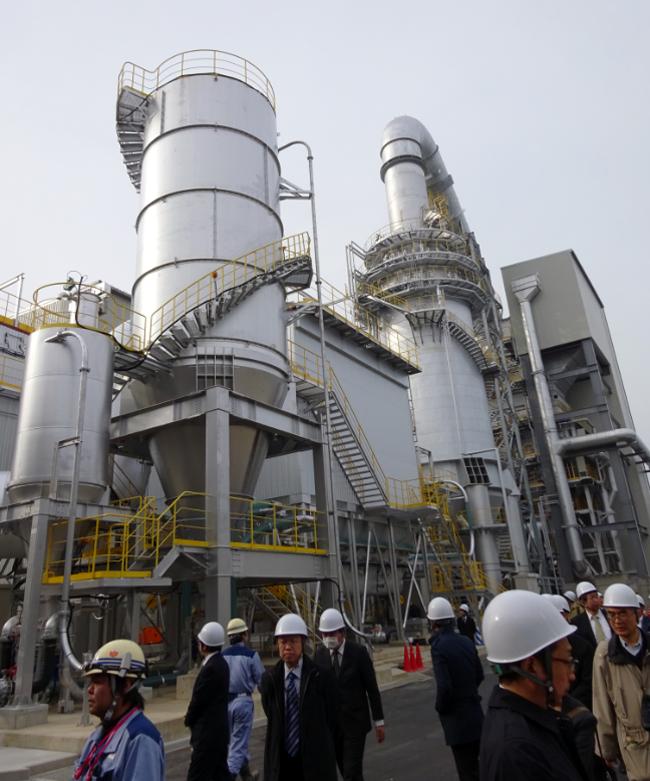 Makeshift incineration facilities in Minamisoma City, Fukushima Prefecture