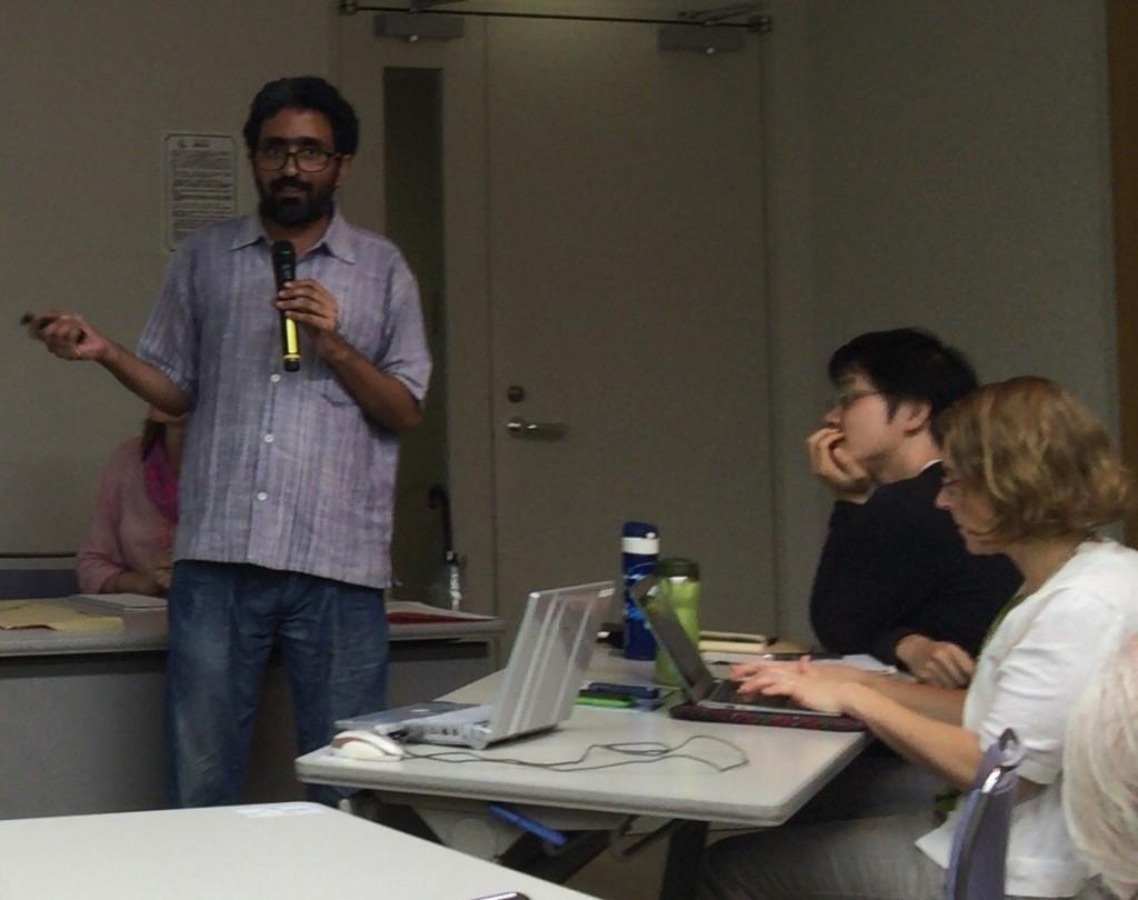 Kumar Sundaram speaks at CNIC's open research seminar on August 16