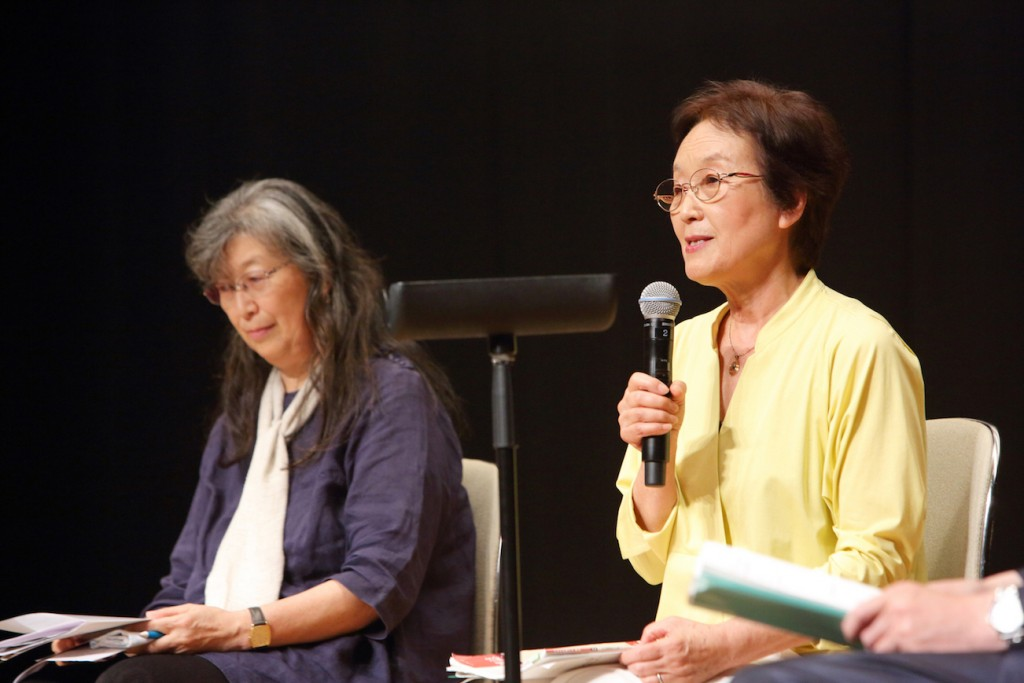 Ruiko Muto, (see NIT No.173) (left) and Hisako Sakiyama, (right) 3/11 Fund for Children with Thyroid Cancer Deputy Director Representative, and Director Representative respectively. Dr Sakiyama is also the author of this article