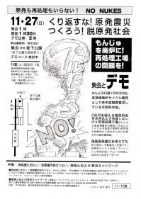 2011/11/27集会とデモ